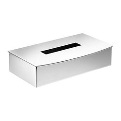 WS Bath Collections - Rectangular Tissue Box - Modern/contemporary design. Premium quality: Avant-garde. Warranty: One year. Made from solid brass base. Polished chrome finish. Made in Spain. No assembly required. 9.8 in. W x 5.9 in. D x 2.4 in. H ( 5 lbs.)Kubic Cool from Pom Dor Spain the very well known brand name for premium and high-end bathroom furnishings; unique and fine bath complements, and accessories of various designs and materials; wood, chrome, gold, stainless steel, glass, and other possibilities, that provide inspirational solutions for every decor.