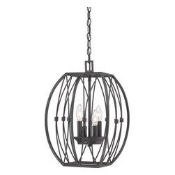 Quoizel - Quoizel QF1686 Regina 4 Light 1 Tier Cage Chandelier - Features: