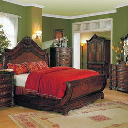 Yuan Tai Furniture - Jasper Queen Bed - JS5100Q - Solid Hardwoods and wood veneers
