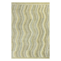 """Amore 2707 Slate Waves Rug - Amore 2707 Slate Waves. Hand-Tufted of 100% Hand-Spun Imported Italian Wool with Cotton Backing. Made in India. Pile Height:1"""""""