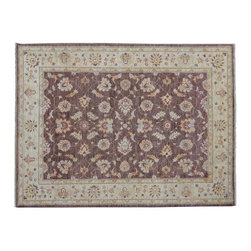 5'x7' Ziegler Mahal Oriental Rug, 100% Wool Stone Wash Hand Knotted Rug SH9174 - Hand Knotted Oushak & Peshawar Rugs are highly demanded by interior designers.  They are known for their soft & subtle appearance.  They are composed of 100% hand spun wool as well as natural & vegetable dyes. The whole color concept of these rugs is earth tones.