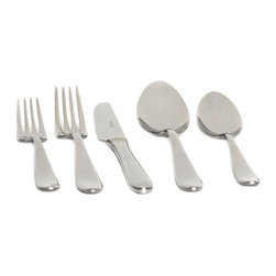 Red Vanilla - Red Vanilla Palladium Stainless Steel Flatware Set (20 Pieces) - Give your table a refresh with this elegant 20-piece stainless steel flatware set. Each set serves four and includes a salad fork,dinner fork,knife,soup spoon,and tea spoon. This contemporary flatware is easy to care for and dishwasher safe.