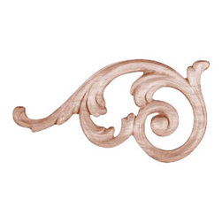 Superior Moulding of Nevada - 750 Left and Right Wood Applique, Set of 2 - Decorative wood onlays and appliques, are decorative ornaments useful for bringing visual interest to flat areas. Embossed wood onlays and appliques are often used to decorate fireplace mantels, stove or range hoods and cabinetry headers.