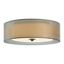 Sonneman - Sonneman 6013 Puri  Mount - Sonneman 6013.13F Puri Satin Nickel Contemporary Flush Mount