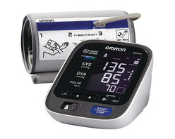 """Omron - 10+ Series Upper Arm Blood Pressure Monitor - Automatic blood pressure monitor with advanced OMRON health management software. 1-touch operation . Extra-large digital display. Hypertension indicator, morning hypertension indicator, irregular heartbeat & excessive body motion. 2-person/200 total measurement memory with date & time stamp. TruRead mode . Features 8-week morning & 8-week evening averages per user. ComFit cuff arms 9"""" - 17"""" in circumference. Includes AC adapter, carrying case, CD-ROM, USB cable & batteries. 5-year limited warrantyThe 10 SeriesT+ monitor has all the features of the top-line 10 series, plus there's built-in software that connects to your home computer so you can download a digital record of your blood pressure. That way it's easier for you to track your progress and email your readings to your doctor so that you can take the right steps to manage your heart."""