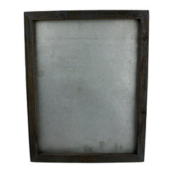 HomArt - Reclaimed Wood Magnetic Board - Add a touch of rustic charm to your home with the Reclaimed Wood Magnetic Board. Featuring a distressed black wood frame and silver textured magnetic board, this rectangular piece has a sleek, vintage look that pairs well with both neutral and bold color schemes. Hang it in a kitchen, bedroom or office space.