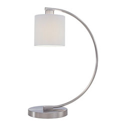 George Kovacs - P360 Park 1-lt Table Lamp - 1 Light Table Lamp w/ White Pleated Linen Shade