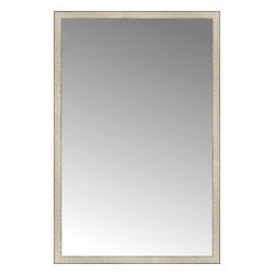 """Posters 2 Prints, LLC - 42"""" x 64"""" Libretto Antique Silver Custom Framed Mirror - 42"""" x 64"""" Custom Framed Mirror made by Posters 2 Prints. Standard glass with unrivaled selection of crafted mirror frames.  Protected with category II safety backing to keep glass fragments together should the mirror be accidentally broken.  Safe arrival guaranteed.  Made in the United States of America"""