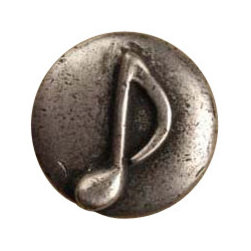Anne at Home Hardware - Single Note Knob, Antique Bronze - Made in the USA - Anne at Home customized cabinet hardware enables even the most discriminating homeowner to achieve the look of their dreams.  Because Anne at Home cabinet hardware is designed to meet your preferences, it may take up to 3-4 weeks to arrive at your door. But don't let that stop you - having customized Anne at Home cabinet knobs and pulls are well worth the wait!   - Available in many finishes.