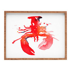 DENY Designs - Cmykaren Lobster Rectangular Tray - With DENY's multifunctional rectangular tray collection, you can use it for decoration in just about any room of the house or go the traditional route to serve cocktails. Either way, you��_��__ll be the ever so stylish hostess with the mostess!
