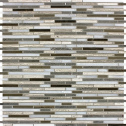 Tilesbay.com - Sample of 12X12 Honed Arctic Storm Bamboo Marble Tile - Arctic Storm Bamboo Interlocking 12 in. x 12 in. honed Mosaic Floor and Wall Tile, it's easy to add a splash of contemporary styling to your decor. This attractive tile features seemingly random thin strips of marble tile on a 12 in. x 12 in. mesh sheet that makes installation a much easier process. With trendy gray shades of natural marble in a honed finish, this tile creates a distinct pattern for install in kitchens, bathrooms and other residential or commercial spaces. Please keep in mind that a typical size of sample is 4x4 or 6x6.