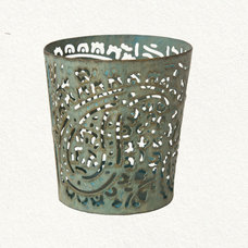 Mediterranean Candles And Candle Holders Paisley Votive Holder