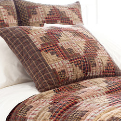 Pine Cone Hill - wrangler sham - Warm, earthy tones mingle with subtle textures and striking patterns to make up our  manzanita sunset collection. With so many pieces to mix and match, the possibilities are as endless as the distant horizon.