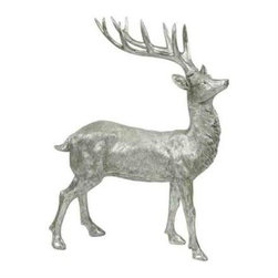 Winward Designs - Reindeer Standing - Add this noble reindeer to your holiday decor this season. He stands just under 24 inches and makes a sophisticated statement in a sea of green and red. It's a refreshing alternative to Rudolph!