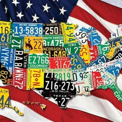 State Plates Puzzle - 400 Piece Jigsaw PuzzleQuick! How many states can you name and locate correctly? State Plates can help you out as it is made out of state license plates! This puzzle is a colorful and contemporary image that takes you on a fun road trip of the 48 contiguous states.