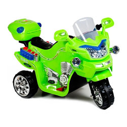 Lil Rider - Lil Rider FX 3 Wheel Battery Powered Bike Riding Toy - 80-KB901PUR - Shop for Tricycles and Riding Toys from Hayneedle.com! Give your child the ride of her life with the Lil Rider FX 3 Wheel Battery Powered Bike Riding Toy. This cool trike features colorful decals and realistic chrome accents. The push-button sound effects and working headlight also add to the realism of this riding toy. Its goes up to 2 MPH in forward or reverse powered by a 6-volt battery (included). It's designed for kids who weigh up to 75 lbs. and can reach a seat that's 15 inches from the ground. Let your child be the envy of the neighborhood with the Lil Rider FX 3 Wheel Battery Powered Bike Riding Toy.About Trademark Global Inc.Located in Lorain Ohio Trademark Global offers a vast selection of items for your home and lifestyle. Whether you need automotive products collectibles electronics general merchandise home and garden items home decor housewares outdoor supplies sporting goods tools or toys Trademark Global has it at a price you can afford. Decor items and so much more are the hallmark of this company.