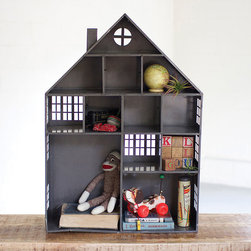 House of Dolls Cubby - We love the unique styling of this cubby shelf. In cool slate gray, it blends with nearly any room for a touch of urban chic (and cheek). It's as good for the kiddies' rooms as it is for mom and dad's personal taste in the living room.