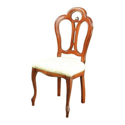 EuroLux Home - Consigned Large Italian New Rococo Chair Mahogany - Product Details