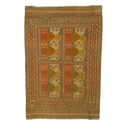 eSaleRugs - 6' 4 x 9' 4 Pictorial Sumak Rug - SKU: 22139471 - Hand Woven Pictorial Sumak rug. Made of 100% Wool. Brand New.
