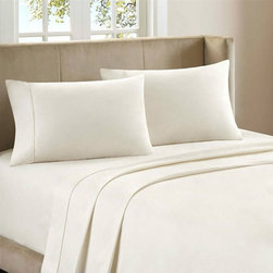 None - Luxurious 1800 Series 4-Piece Egyptian Comfort Bedding Sheet - This set features double-brushed microfiber for outstanding comfort and 16-inch deep pockets on the fitted sheets. The wrinkle-resistant material has a superior weave for durability and a buttery-soft touch and is machine washable.