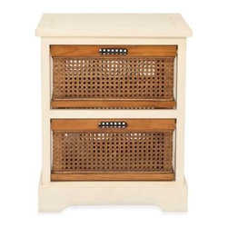 Safavieh - Safavieh Jackson 2-Drawer Storage Unit - Organize in style with the chic Safavieh Jackson 2-drawer storage unit. The dual-compartment storage piece features woven-front drawers in a honey-brown hue and a complementary pine frame in a light, natural wood color.
