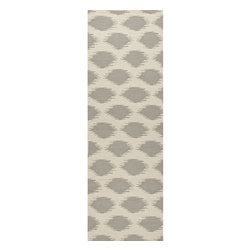 Jaipur Rugs - Jaipur Rugs Flat-Weave Tribal Pattern Wool Ivory/Gray Runner // 2.6x8 - An array of simple flat weave designs in 100% wool - from simple modern geometrics to stripes and Ikats. Colors look modern and fresh and very contemporary.