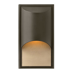 Hinkley Lighting - Hinkley Lighting 1830BZ-GU24 Cascade 1 Light Outdoor Wall Lights in Bronze - The clean, modern lines of Cascade complement the rich alabaster glass, while creating a glowing, indirect lighting effect. The sleek aluminum construction adds to the design's versatility, making this contemporary style perfect for either interior or exterior use. Cascade is standard Dark Sky and ADA compliant.