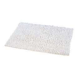Prestige Cotton Bath Rug Marley White - This prestige cotton bath rug Marley is 100% cotton. Ultra-soft, deep, and inviting, this bath mat is a rug you can luxuriously sink your toes in and will give a sophisticated look to any bathroom. This beautiful bath rug features long shaggy loops for a soft extra plush feel. It provides a soft, cushioned feel, shock absorption and is durable. Manufacturer recommends using a nonskid pad beneath the rug (not included). Hand wash and no dryer. Indoor use only. Width 20-Inch and length 31.5-Inch. Color white. Enhance your bathroom decor with this handsome prestige bath rug and add an understated elegance to your space. Imported.