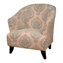 NPD (New Pacific Direct) Furniture - Claremont Tub Armchair by NPD Furniture, Blue Paisley - The distinguished look of the Claremont fabric tub armchair makes it a welcomed addition in homes of any style. This fabric armchair is a truly relaxing experience. The Claremont fabric tub armchair features pink fabric upholstery with deep padded foam for comfort with blue paisley pattern finish. Sleek and comfort, this armchair will be a great addition in your living area.