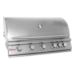 "Blaze Outdoor - 40"" 5-Burner Blaze LP Grill with Rear Burner - 5 commercial quality 304 cast stainless steel burners"