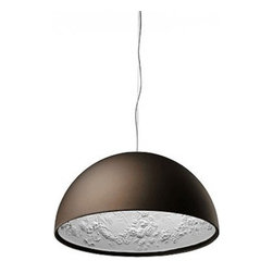 """Flos - Flos Skygarden S1 pendant light - The Skygarden pendant light has been designed by Marcel Wanders from Flos. This pendant light provides direct light. Made with a plaster body, it has been textured with decorations inside, liquid-paint finish outside (opal gold, matt white, matt black or rust colored). Available in two sizes, large � (90 cm) and small � (60 cm).   Product description: The Skygarden pendant light has been designed by Marcel Wanders from Flos. This pendant light provides direct light. Made with a plaster body, it has been textured with decorations inside, liquid-paint finish outside (opal gold, matt white, matt black or rust colored). Available in two sizes, large � (90 cm) and small � (60 cm). Standard cable lenght on this fixture is 400cm.  Details:                         Manufacturer:             Flos                             Designer:                         Marcel Wanders - cir. 2008                                         Made in:            Italy                            dimensions:             small: Diameter: 23 5/8"""" (60 cm)                                         Light bulb:             small: 1 x 150W Halogen                                         Material:             plaster"""