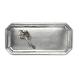 "Match Pewter - Dolomiti Vanity Tray by Match Pewter - In a world dominated by mass production, Match Pewter is handmade by artisans in Northern Italy. Each piece bears hallmarks that confirm its origin and authenticity. 16"" x 7.7"""