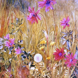 """Henry Roderick Newman Wildflowers - 16"""" x 24"""" Premium Archival Print - 16"""" x 24"""" Henry Roderick Newman Wildflowers premium archival print reproduced to meet museum quality standards. Our museum quality archival prints are produced using high-precision print technology for a more accurate reproduction printed on high quality, heavyweight matte presentation paper with fade-resistant, archival inks. Our progressive business model allows us to offer works of art to you at the best wholesale pricing, significantly less than art gallery prices, affordable to all. This line of artwork is produced with extra white border space (if you choose to have it framed, for your framer to work with to frame properly or utilize a larger mat and/or frame).  We present a comprehensive collection of exceptional art reproductions byHenry Roderick Newman."""