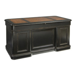 Hekman - Home Office Junior Executive Desk - This is a beautiful piece of top-quality furniture that's perfect for your Man Cave, Game Room, Office or anywhere you would like to decorate and show your personal style.