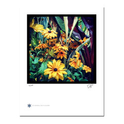 """London Flowers 07, Limited Edition, Photograph - """"London Flowers 07 is the seventh in a series of flower photographs taken on a rainy day in London at Victoria Gardens along the Thames River.   Technical Information:  This is a limited edition photograph produced on Epson Premium Presentation Fine Art Matte Media using an archival pigment. Each photograph is produced, signed and numbered by the artist. Only one hundred or fewer prints are produced in each series. Prints are delivered in a crystal clear presentation sleeve supported with a white backing board.   On 8.5 x 11 media the printed image is 7 x 7 inches, leaving a three quarter inch white border on three sides with a weighted bottom. This white border allows for for easy framing with or without a matte. Perfect for small spaces that need a splash of unique artistry.  Priority shipping is always FREE in the Continental United States!  Please feel free to contact me with any additional questions you may have."""""""
