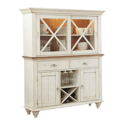 Liberty Furniture Ocean Isle Traditional Buffet w/ Hutch in White