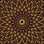My Wonderful Walls - Geometric Digital Wall Art Sticker Decal - Converge by Lyle Hatch, Small - Product:  fiery star burst geometric wall decal sticker