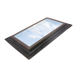 Wasco - Ultraseal Self-Flashing Fixed Glass Skylight with Cardinal Clear IG Argon Glass - E-Class Model EF Series Skywindow with Cardinal Clear IG Temp / Temp Argon Glass - Quaker Bronze Standard Finish