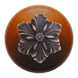 "Notting Hill - Notting Hill Opulent Flower/Cherry Wood Knob - Antique Solid Bronze - Notting Hill Decorative Hardware creates distinctive, high-end decorative cabinet hardware. Our cabinet knobs and handles are hand-cast of solid fine pewter and bronze with a variety of finishes. Notting Hill's decorative kitchen hardware features classic designs with exceptional detail and craftsmanship. Our collections offer decorative knobs, pulls, bin pulls, hinge plates, cabinet backplates, and appliance pulls. Dimensions: 1-1/2"" diameter"