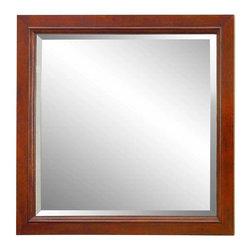 FEBO - FEBO 30 in. L x 32 in. W Wall Mirror, Classic Cherry (F11-AE-017-05BM) - FEBO F11-AE-017-05BM 30 in. x 32 in. Wall Mirror, Classic Cherry