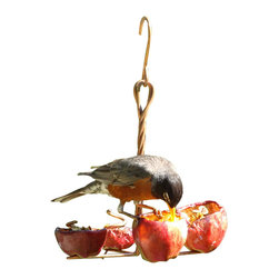 Songbird Essentials - Apple Anchor Feeder - The Apple Anchor holds 4 fruit and feeds the most birds at one time.