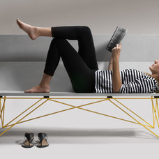 Modern Outdoor Benches by Hard Goods
