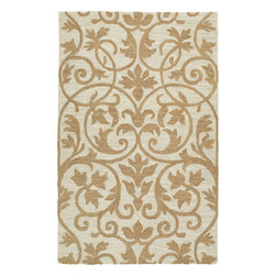 """Kaleen - Kaleen Carriage Trellis (Brown) 5' x 7'9"""" Rug - Carriage is a warm and casual rug as comfort and as much a part of the family as that favorite sweater. As all Kaleen products Carriage is only made of the finest materials. Hand Tufted Loop construction made in India of 100% Premium Virgin Wool."""
