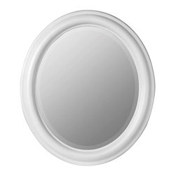 Cooper Classics - Cooper Classics Addison Oval Mirror, Chesapeake White - The Addison Oval mirror will make a delightful addition to any home. This lovely, beveled wall mirror features a gorgeous Chesapeake white finish that will add charm to any decor.