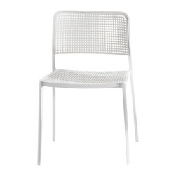 Kartell - Audrey Chair, Set of 2 - Give this seat a standing ovation. There are oodles of color combinations available for this set of two chairs, which features a sleek, die-cast aluminum frame and a durable plastic seat back. And they work in nearly any setting from indoors to out. Surround a patio table, update your office, cheer up your kitchen or flank an entry console.