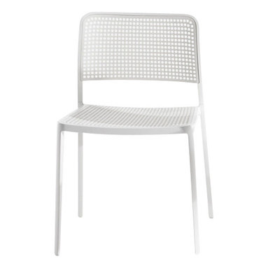 Kartell - Audrey Chair, Set of 2, White/White - Audrey, the eclectic seat combining aluminum and plastic and designed by Piero Lissoni is a versatile and contemporary chair which because of its simple, clean lines due to a special die-casting process is composed of only two parts and made without welding. It is multifunctional and adaptable to all uses, indoor, outdoor, the home, office and contract, with its wonderfully rich range of combinations (about 50 in all). Audrey comes in either the chair or the armchair (with arms) version with seat and back in various colors of plastic and the aluminum frame has three versions: painted aluminum, painted white or painted black. This seat can also be used outdoors.