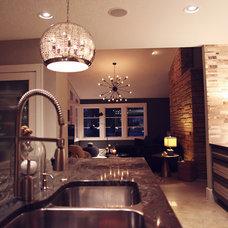 Midcentury Family Room by Heather Garrett Design