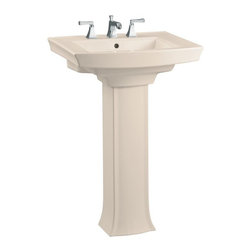 "KOHLER - KOHLER K-2359-8-55 Archer Pedestal Lavatory with 8"" Centers - KOHLER K-2359-8-55 Archer Pedestal Lavatory with 8"" Centers in Innocent Blush"