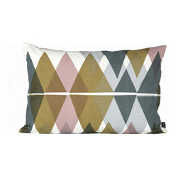 Ferm Living - Mountain Lake Pillow - Small - Ferm Living - Ferm Living's Mountain Lake cushions are made of 100% organic cotton with a geometric design in a unique, calming colorway. Decorate your couch or use them as headboard cushions on your bed for extra comfort.