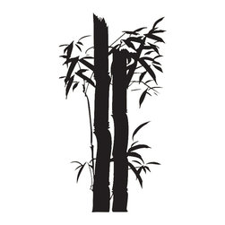 Bamboo Tree Wall Decal - Some wall decals may come in multiple pieces due to the size of the design.